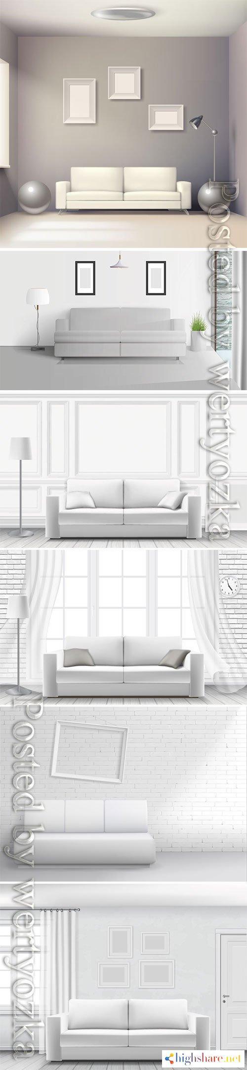 realistic home interior vector template 4 5f3feb04200f4 - Realistic home interior vector template # 4