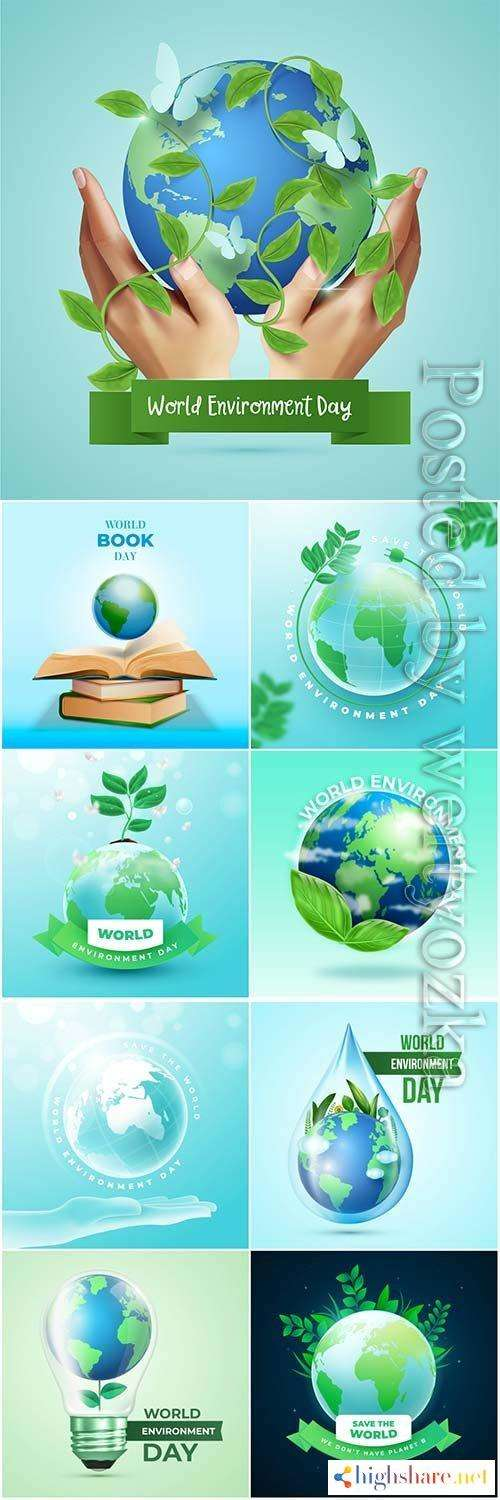 realistic world environment day concept vector design 5f4382b9ef6e3 - Realistic world environment day concept vector design