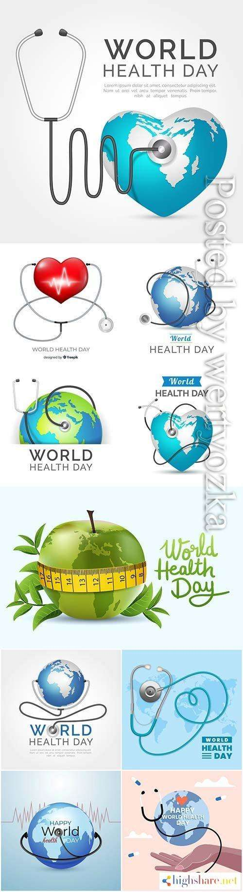 realistic world health day vector background 5f4382e1efed6 - Realistic world health day vector background