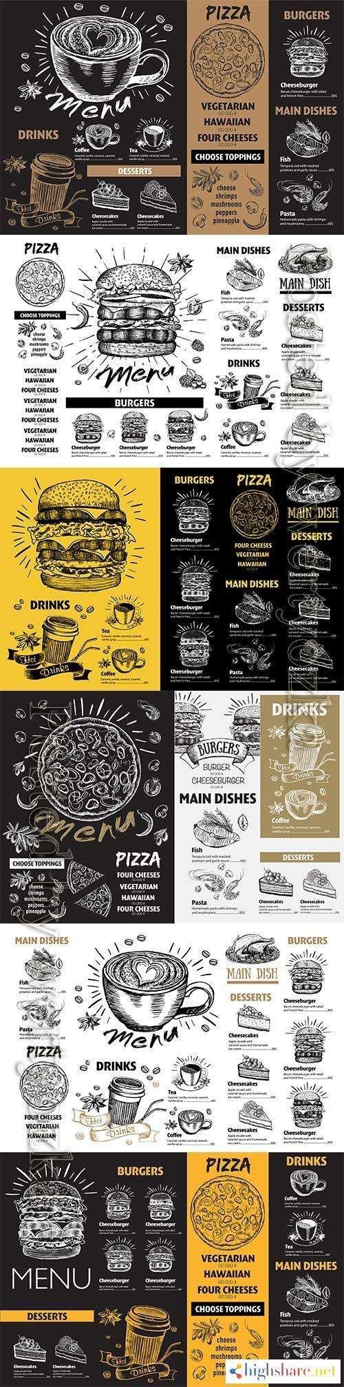 restaurant cafe menu template design 5f41feedac911 - Restaurant cafe menu, template design