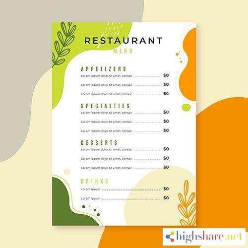 restaurant menu template style 5f41ff11b4f65 - Restaurant menu template style