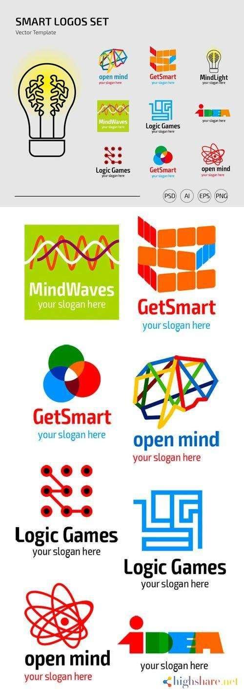 smart logos set vector templates 5f430cb5a90d3 - Smart Logos Set Vector Templates