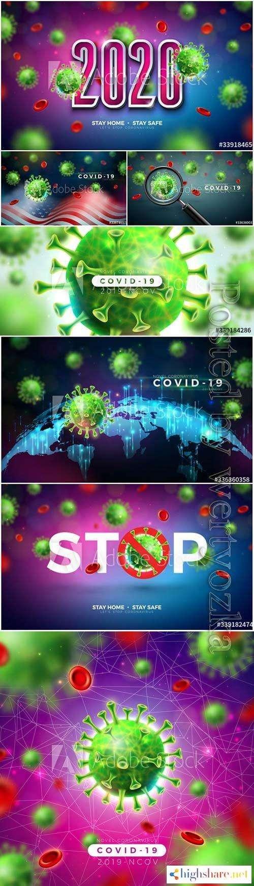 stay home stop coronavirus vector design 5f41d70e50b65 - Stay home, stop coronavirus vector design