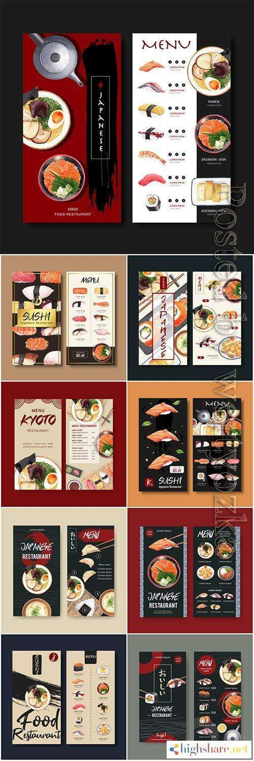 sushi menu vector collection for restaurant 5f41fe817a712 - Sushi menu vector collection for restaurant