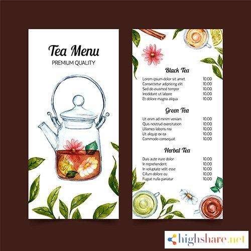 tea menu watercolor template design 5f41ff7df1663 - Tea menu watercolor template design
