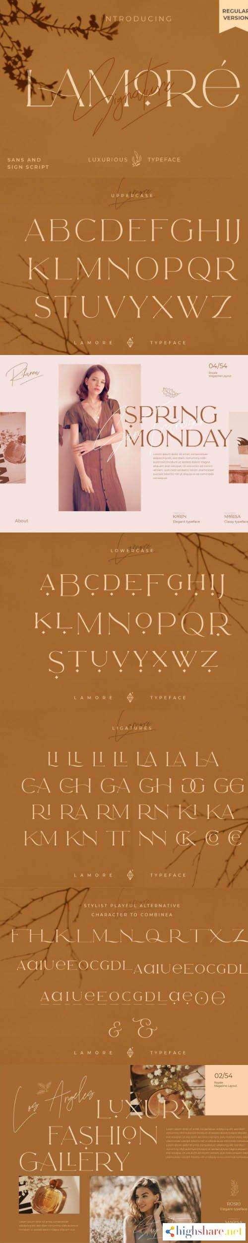 the lamore sans script typeface regular version 5f43a5d58a8d3 - The Lamore Sans & Script Typeface- Regular Version
