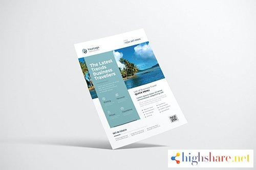 travel flyer design with light blue color 5f4099fd5b94b - Travel Flyer Design with Light Blue Color