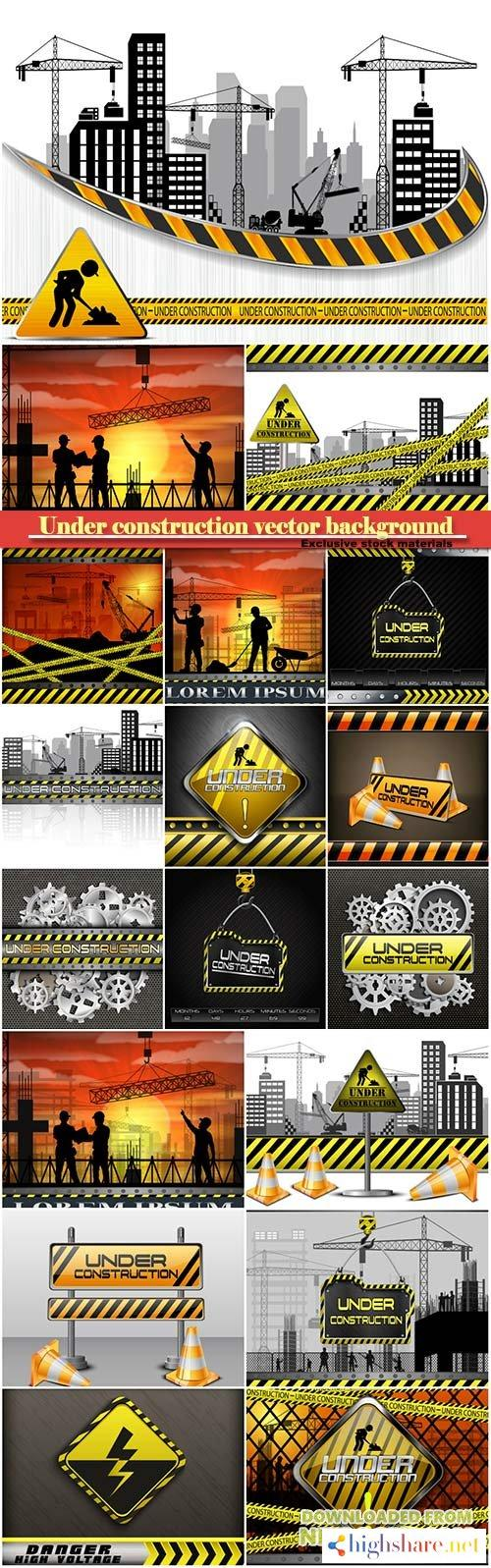 under construction vector background 5f40c90fedeb0 - Under construction vector background