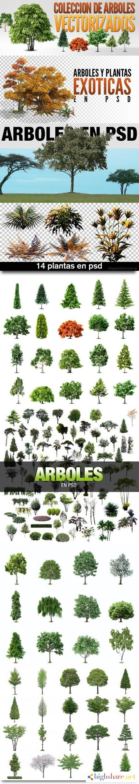 variety of trees and plants in psd eps 5f40c84512210 - Variety of Trees and Plants in PSD & EPS