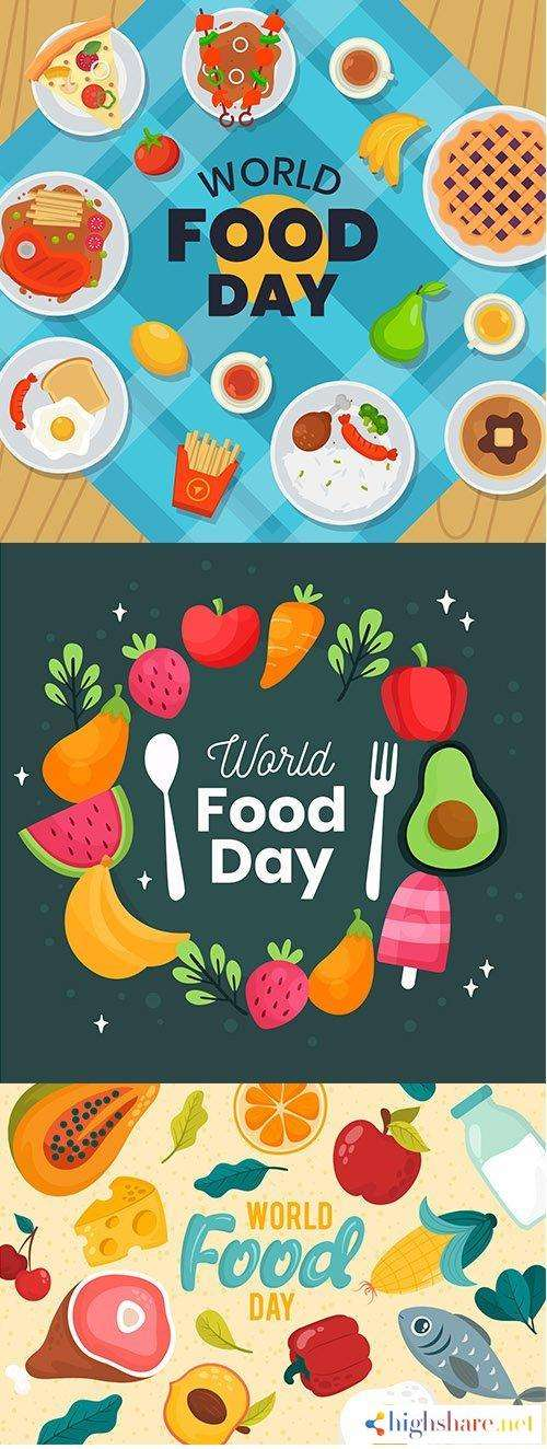 various delicious dishes world food day concept 5f4383c51a6f6 - Various delicious dishes world food day concept