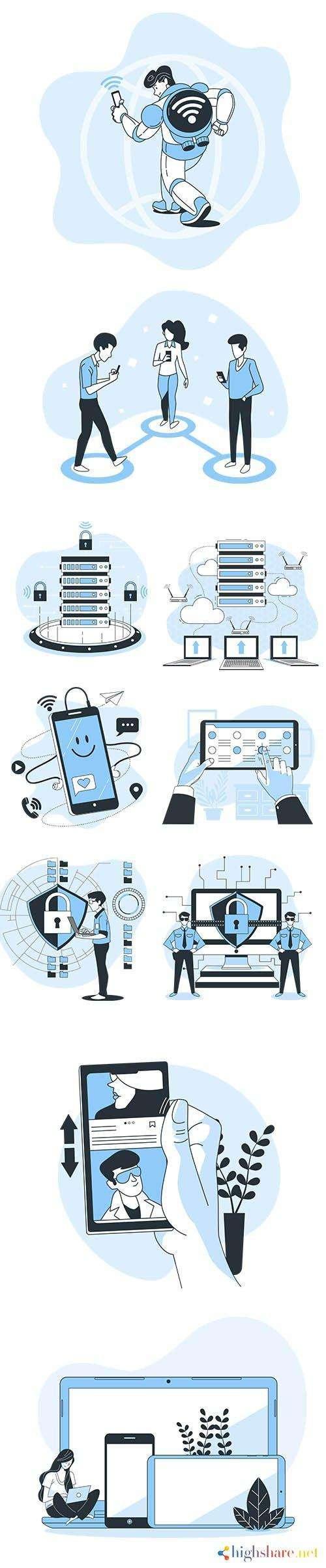 vector illustrations technology concept vol 2 5f42824136831 - Vector Illustrations Technology Concept Vol 2