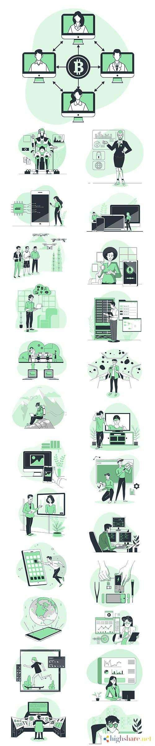 vector illustrations technology concept 5f42821c5e8b1 - Vector Illustrations Technology Concept