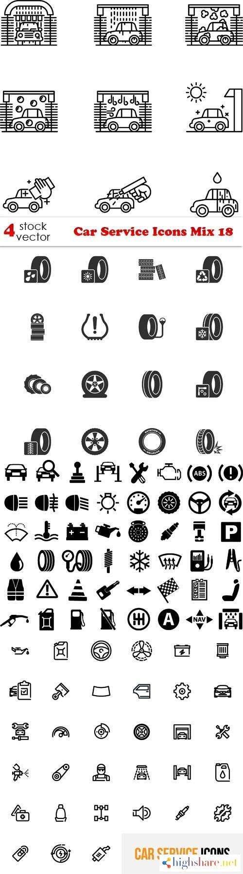 vectors car service icons mix 18 5f4654935d292 - Vectors - Car Service Icons Mix 18
