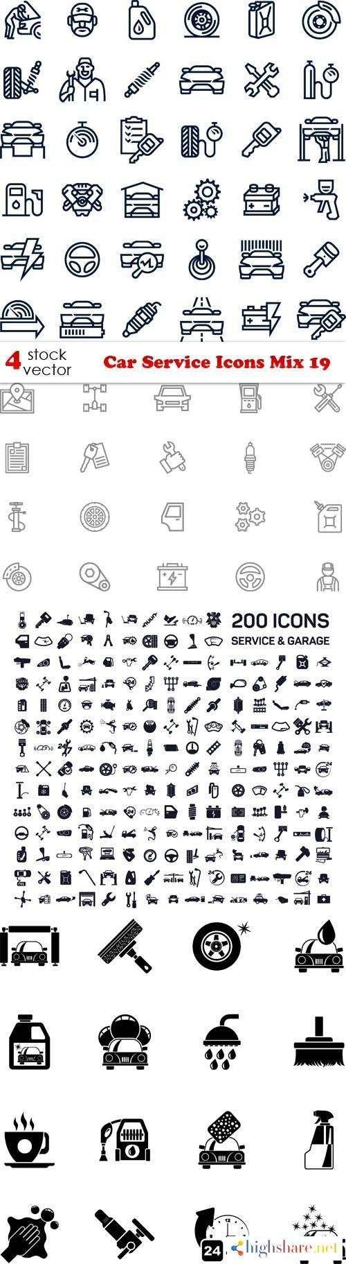 vectors car service icons mix 19 5f46546b97def - Vectors - Car Service Icons Mix 19