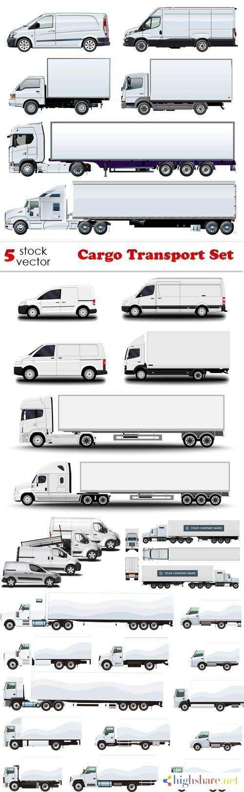 vectors cargo transport set 5f465581dc6e1 - Vectors - Cargo Transport Set