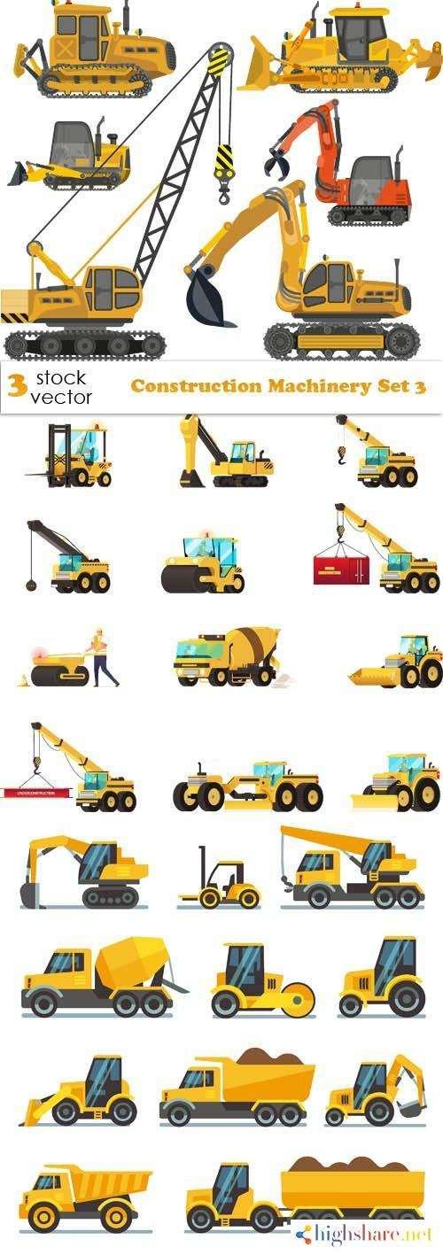 vectors construction machinery set 3 5f4655d09415f - Vectors - Construction Machinery Set 3