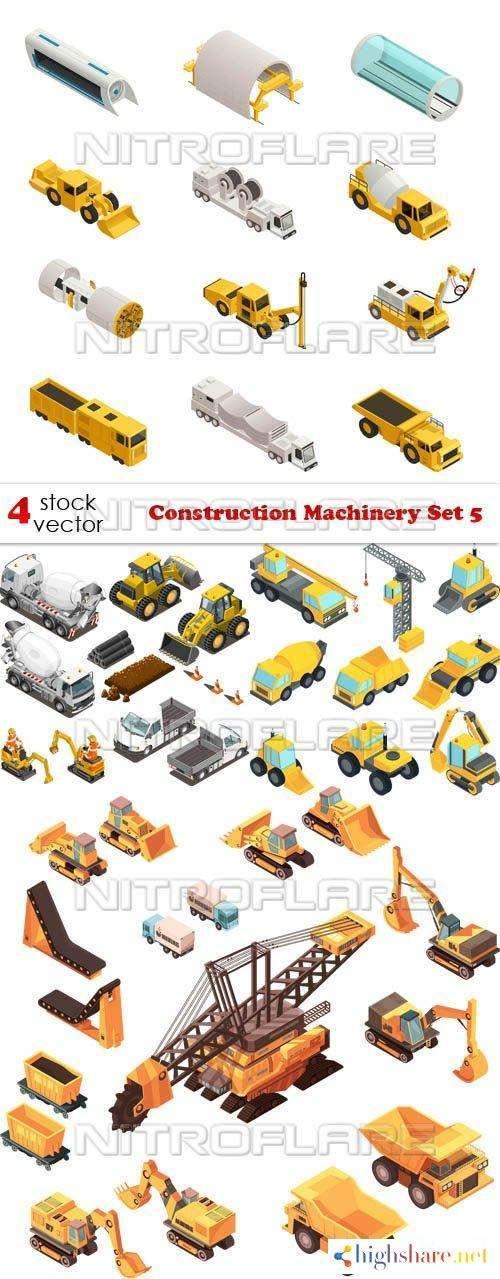 vectors construction machinery set 5 5f465531a4508 - Vectors - Construction Machinery Set 5