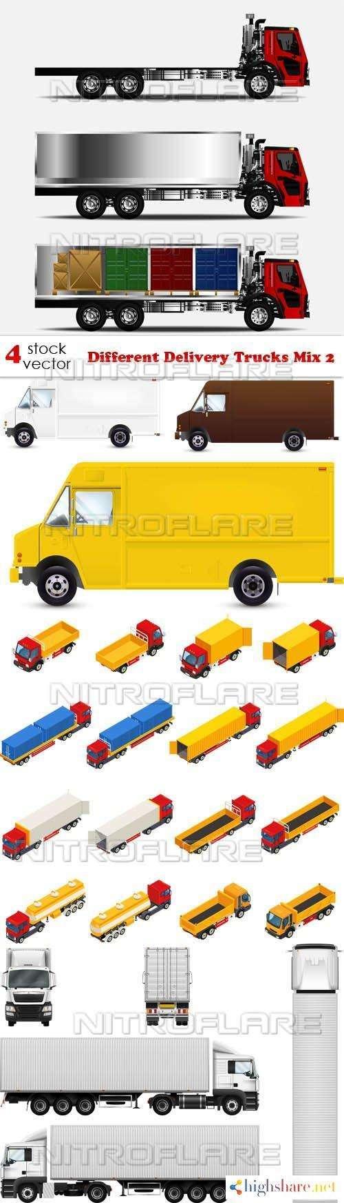 vectors different delivery trucks mix 2 5f4654bb74c5d - Vectors - Different Delivery Trucks Mix 2