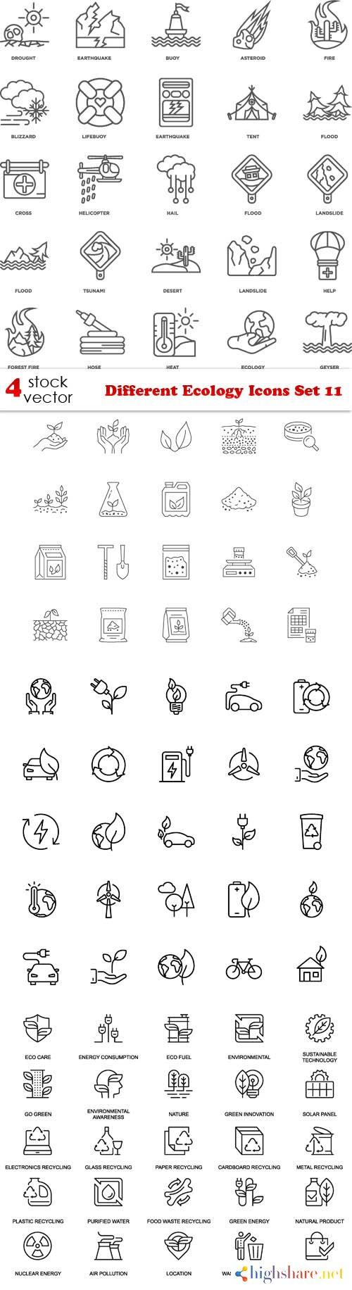 vectors different ecology icons set 11 5f3fc887bf2a6 - Vectors - Different Ecology Icons Set 11
