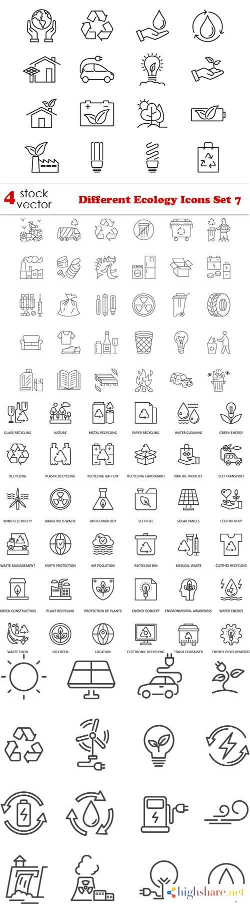 vectors different ecology icons set 7 5f3fc93619e33 - Vectors - Different Ecology Icons Set 7