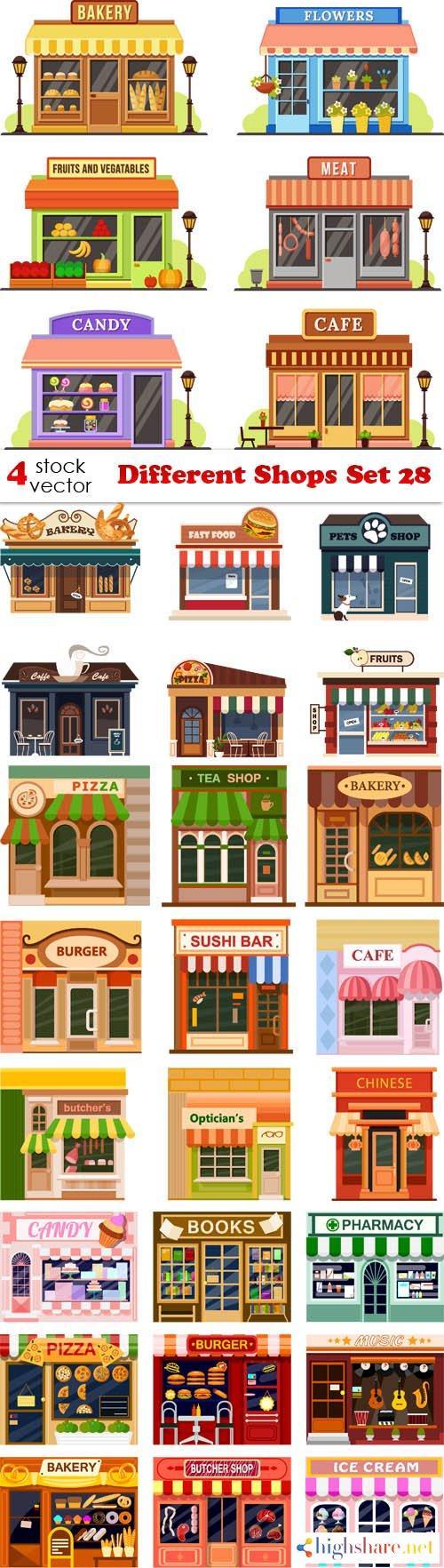 vectors different shops set 28 5f3fe83e0c0a6 - Vectors - Different Shops Set 28