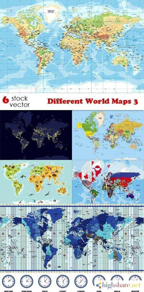 vectors different world maps 3 5f41e019a14d8 - Vectors - Different World Maps 3
