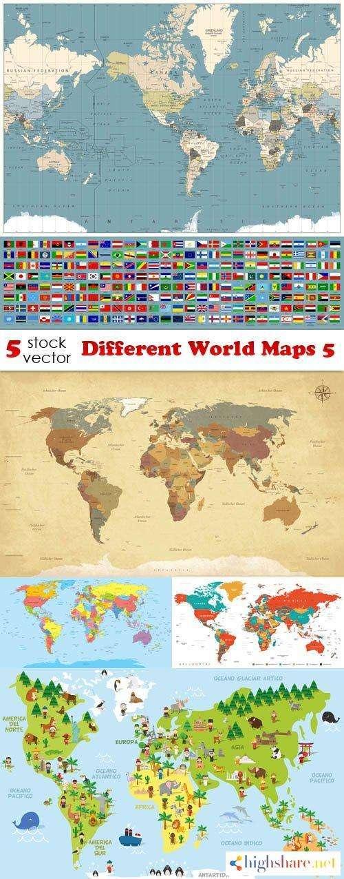 vectors different world maps 5 5f41dfd121c86 - Vectors - Different World Maps 5