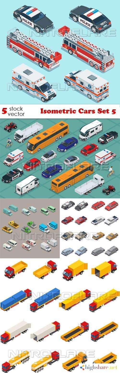 vectors isometric cars set 5 5f46555a07b1f - Vectors - Isometric Cars Set 5