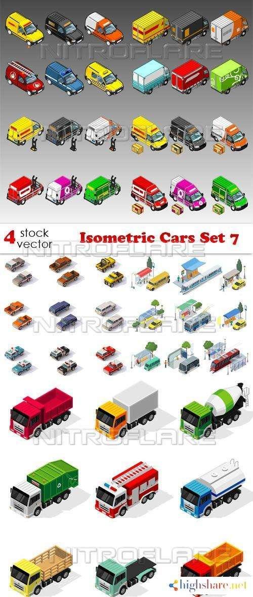 vectors isometric cars set 7 5f46550acdb47 - Vectors - Isometric Cars Set 7