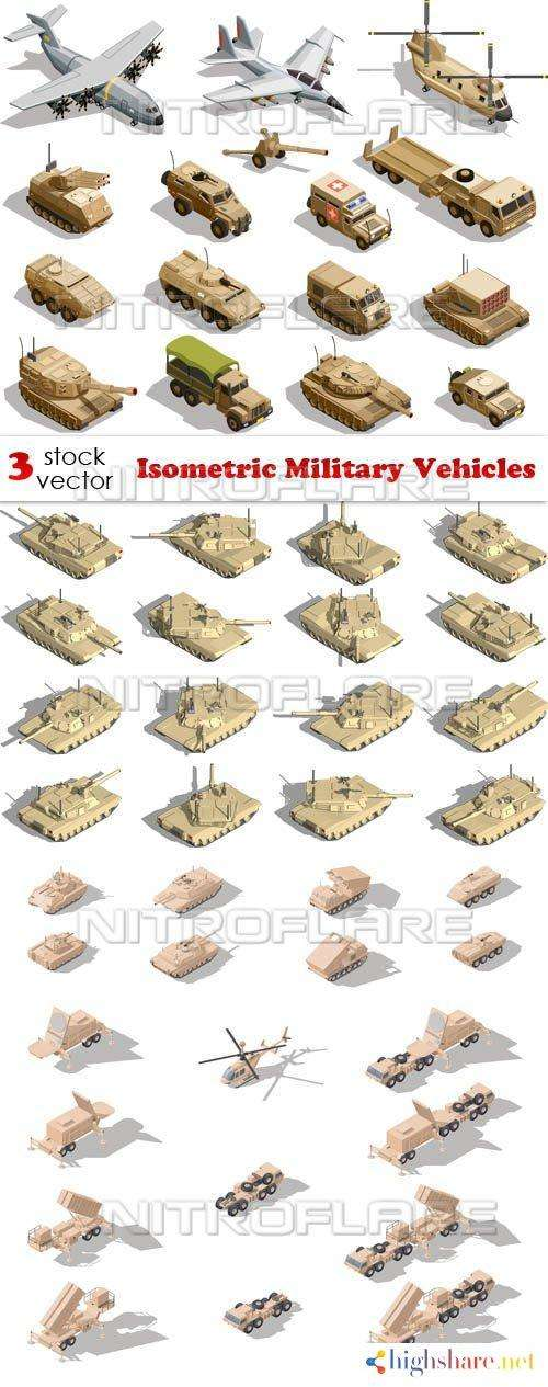 vectors isometric military vehicles 5f4654e3920d3 - Vectors - Isometric Military Vehicles