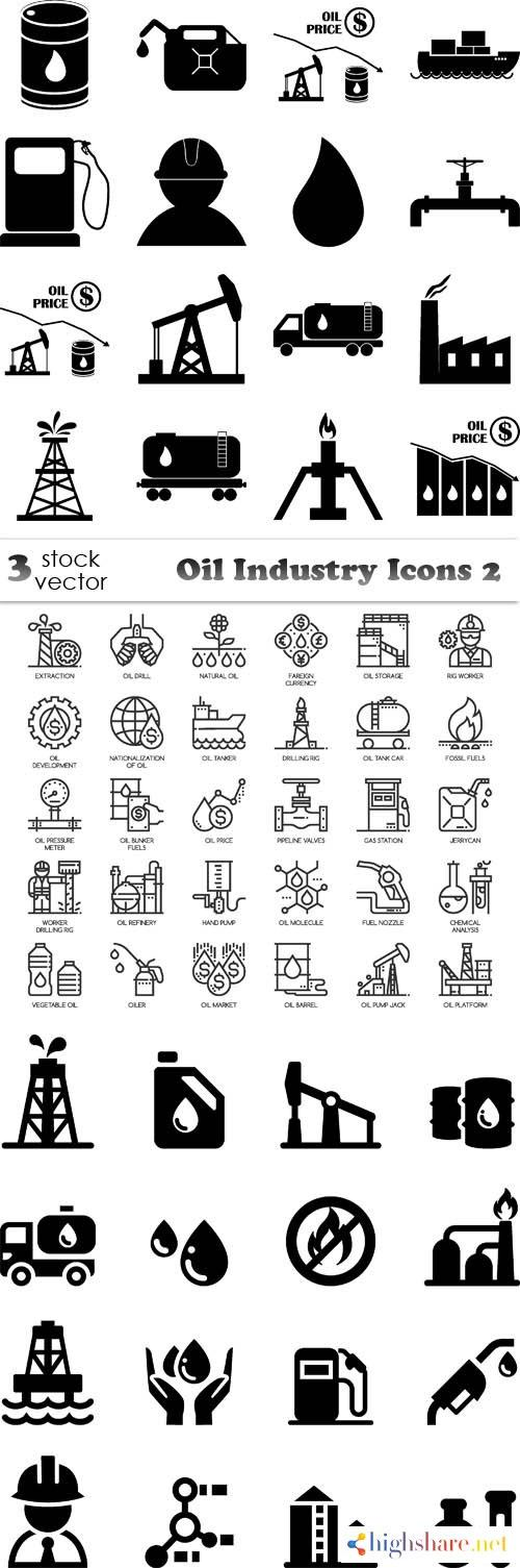 vectors oil industry icons 2 5f40c933a61be - Vectors - Oil Industry Icons 2