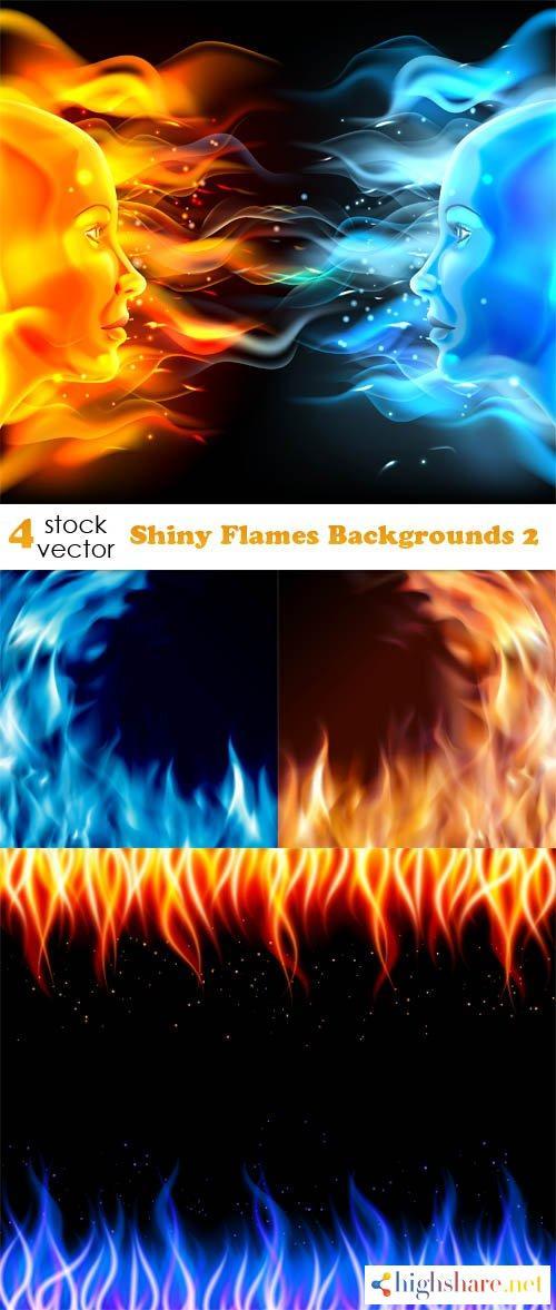 vectors shiny flames backgrounds 2 5f3fba1dad9e5 - Vectors - Shiny Flames Backgrounds 2