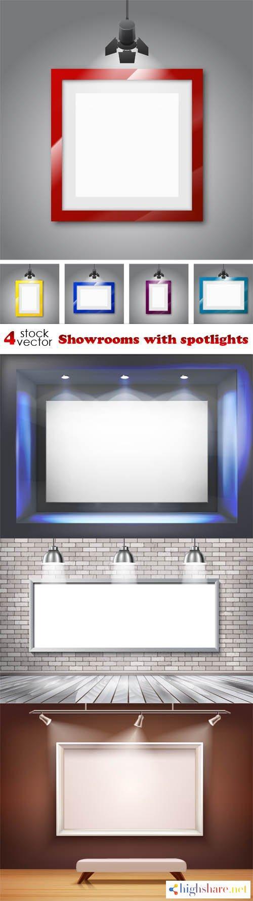 vectors showrooms with spotlights 5f3fba835397d - Vectors - Showrooms with spotlights