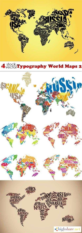 vectors typography world maps 2 5f41e03d8cb80 - Vectors - Typography World Maps 2