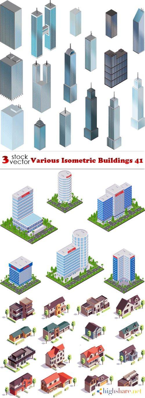 vectors various isometric buildings 41 5f3fe76bb4bc7 - Vectors - Various Isometric Buildings 41