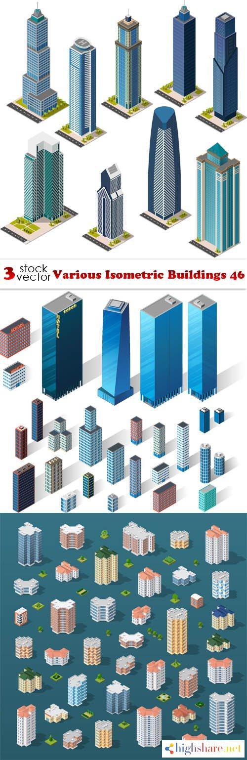 vectors various isometric buildings 46 5f3febdbb9789 - Vectors - Various Isometric Buildings 46