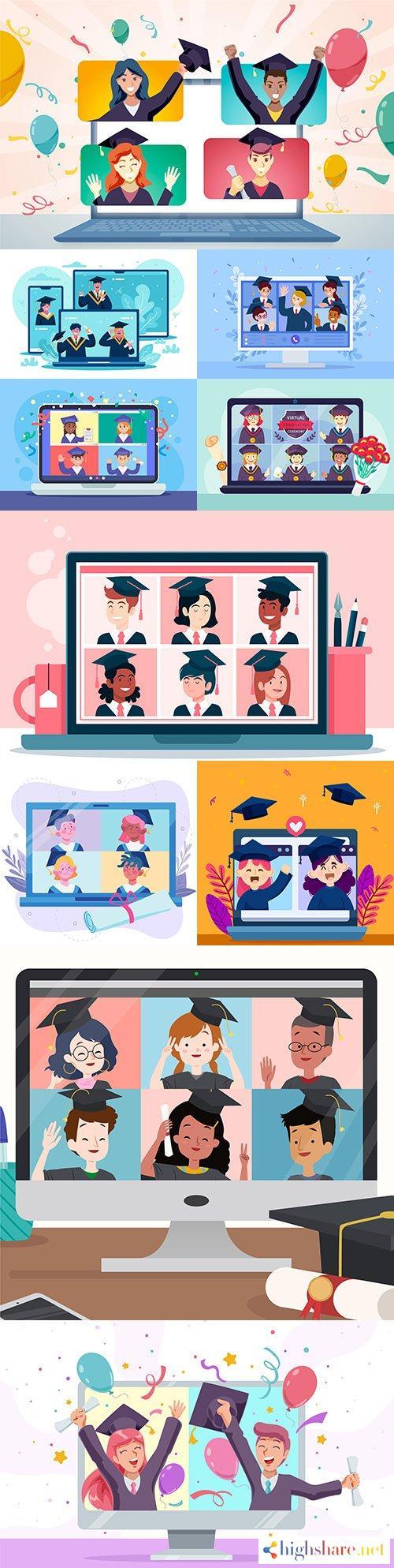 virtual graduation award ceremony concept illustrations 5f4000c9a5c38 - Virtual graduation award ceremony concept illustrations