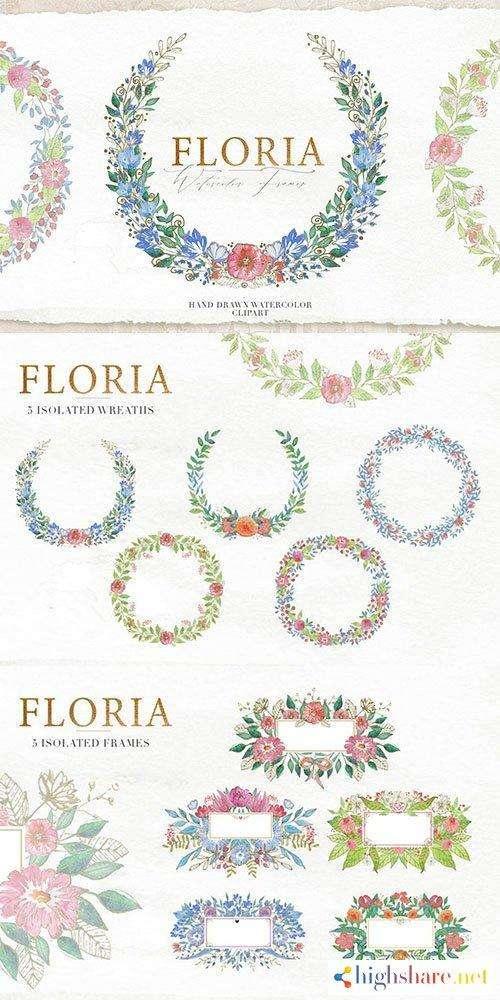 watercolor floral frames 5f4734fa891e8 - Watercolor Floral Frames