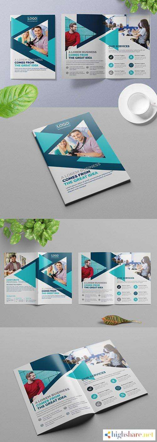 bifold business brochure layout with blue geometric design elements 309429162 5f5d937927f1c - Bifold Business Brochure Layout with Blue Geometric Design Elements 309429162