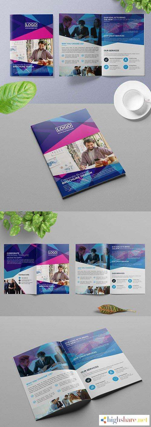 bifold business brochure layout with geometric elements 309428880 5f5d92d7b4839 - Bifold Business Brochure Layout with Geometric Elements 309428880