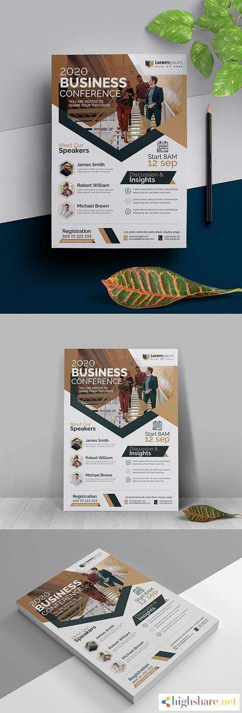 conference flyer layout with bronze accents 323753112 5f5d9234aaae4 - Conference Flyer Layout with Bronze Accents 323753112