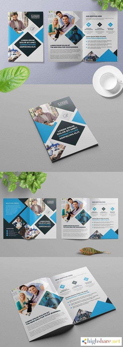 dark blue bifold business brochure layout with light blue accents 309429041 5f5d93289f4fd - Dark Blue Bifold Business Brochure Layout with Light Blue Accents 309429041