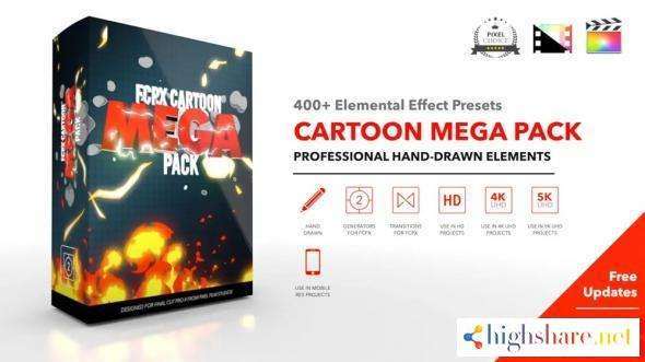 fcpx cartoon mega packfcpx cartoon mega pack is the largest pack of incredible hand drawn elements for final cut pro x fcpx cartoon mega pack features over 750 presets with f 5f911148abc20 - FCPX Cartoon Mega PackFCPX Cartoon Mega Pack is the largest pack of incredible hand-drawn elements for Final Cut Pro X. FCPX Cartoon Mega Pack features over 750 presets with f