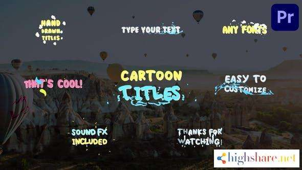 cartoon titles premiere pro mogrt 29401147 videohive 600e36d5d5bad - Cartoon Titles   Premiere Pro MOGRT 29401147 Videohive