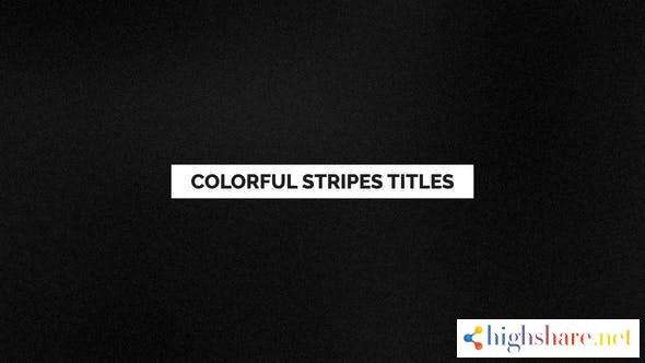 colorful stripes titles 24570059 videohive 5ff5500d87358 - Colorful Stripes Titles 24570059 Videohive