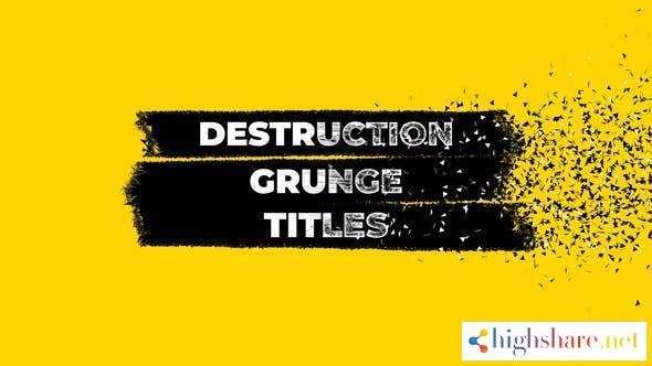 destruction grunge titles 27925317 videohive 5ff54dedb4e0c - Destruction Grunge Titles 27925317 Videohive