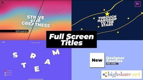 full screen titles 29794955 videohive 600e3613a0889 - Full Screen Titles 29794955 Videohive