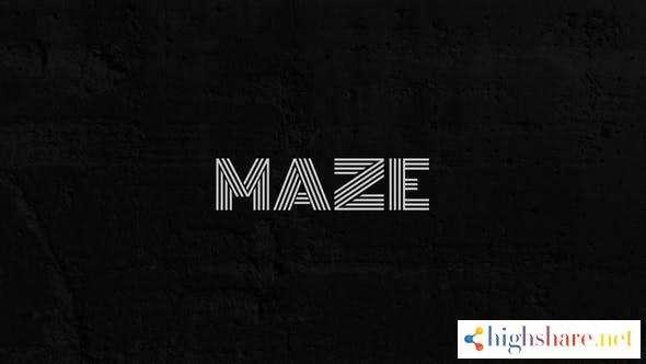 maze animated typeface 29299085 videohive 5ff54e143cd19 - Maze Animated Typeface 29299085 Videohive