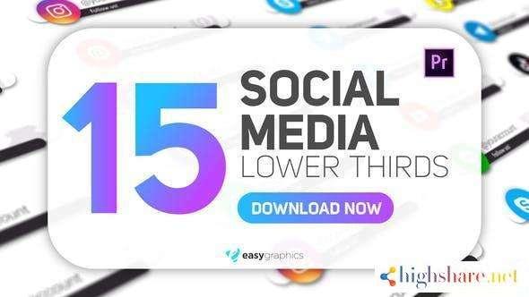 simple white social media lower thirds 29808170 videohive 600e36fd09426 - Simple White Social Media Lower Thirds 29808170 Videohive