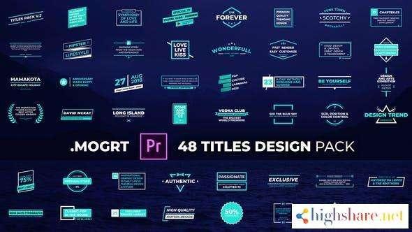 titles design pack 29809059 videohive 600e35ecc057d - Titles Design Pack 29809059 Videohive